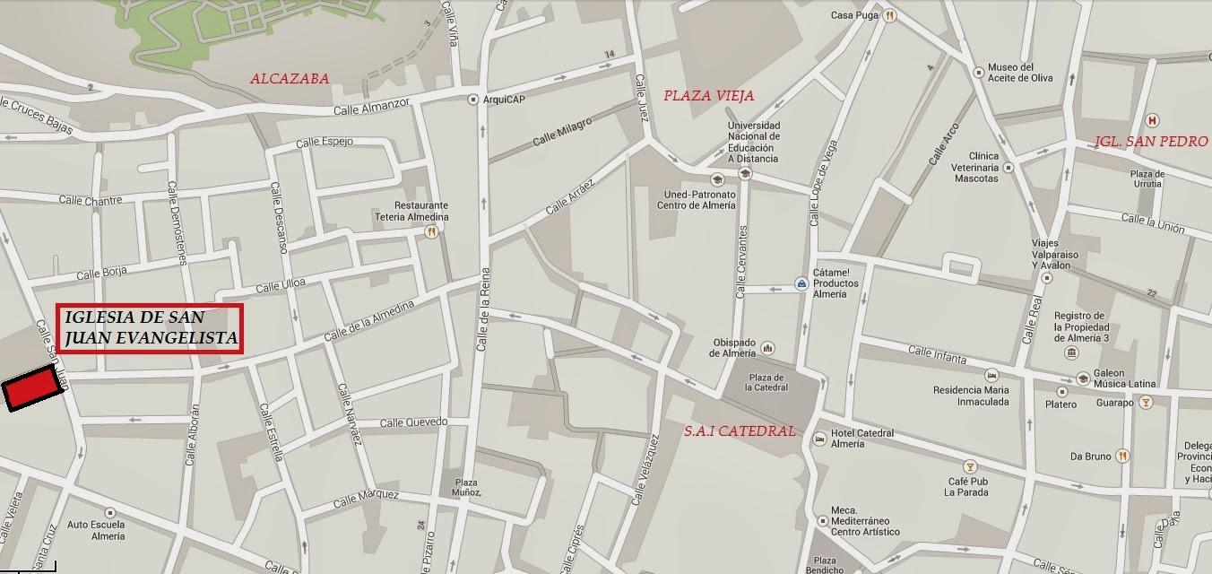 Localización de nuestra sede canónica en Almería