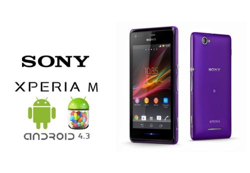Aggiornamento Android 4.3 per Sony Xperia M