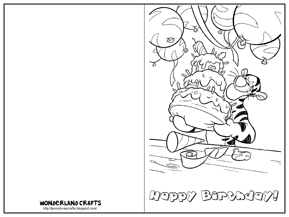 Eloquent image with regard to printable coloring birthday cards