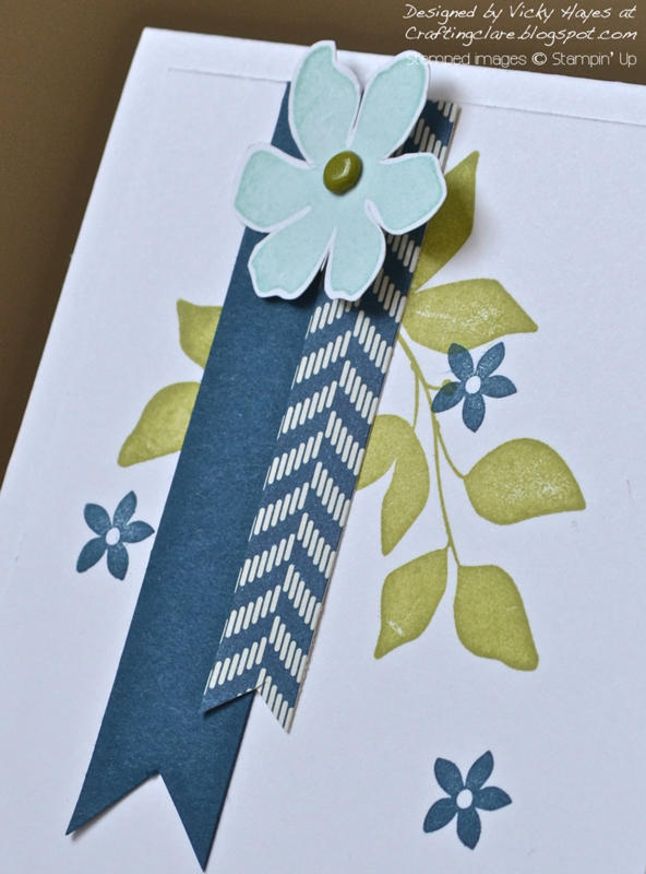 Close up of card made with Summer Silhouettes from Stampin Up