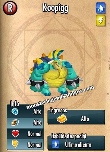 imagen de las caracteristicas del monstruo koopigg