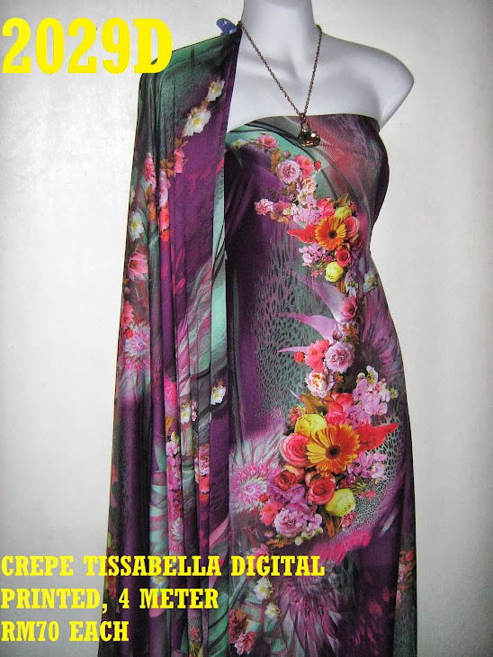 CTD 2029D: CREPE TISSABELLA DIGITAL PRINTED, EXCLUSIVE DESIGN, 4 METER
