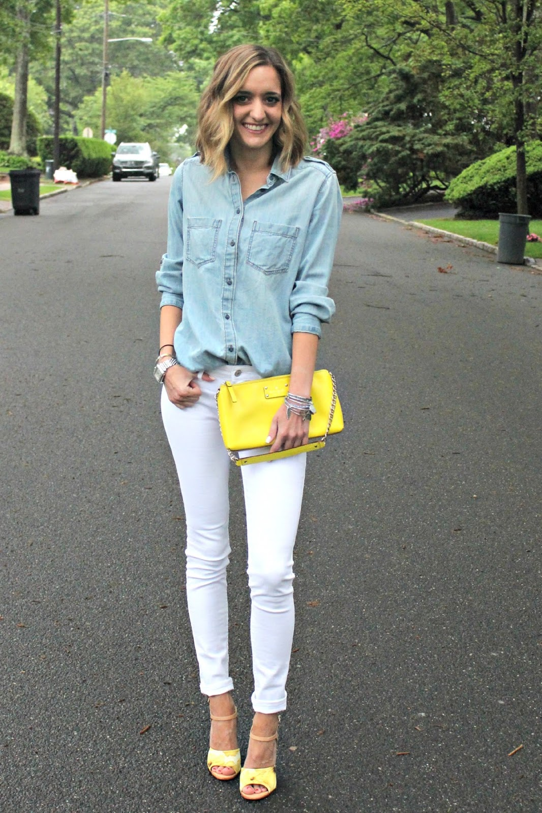 how to wear denim on denim in the summer