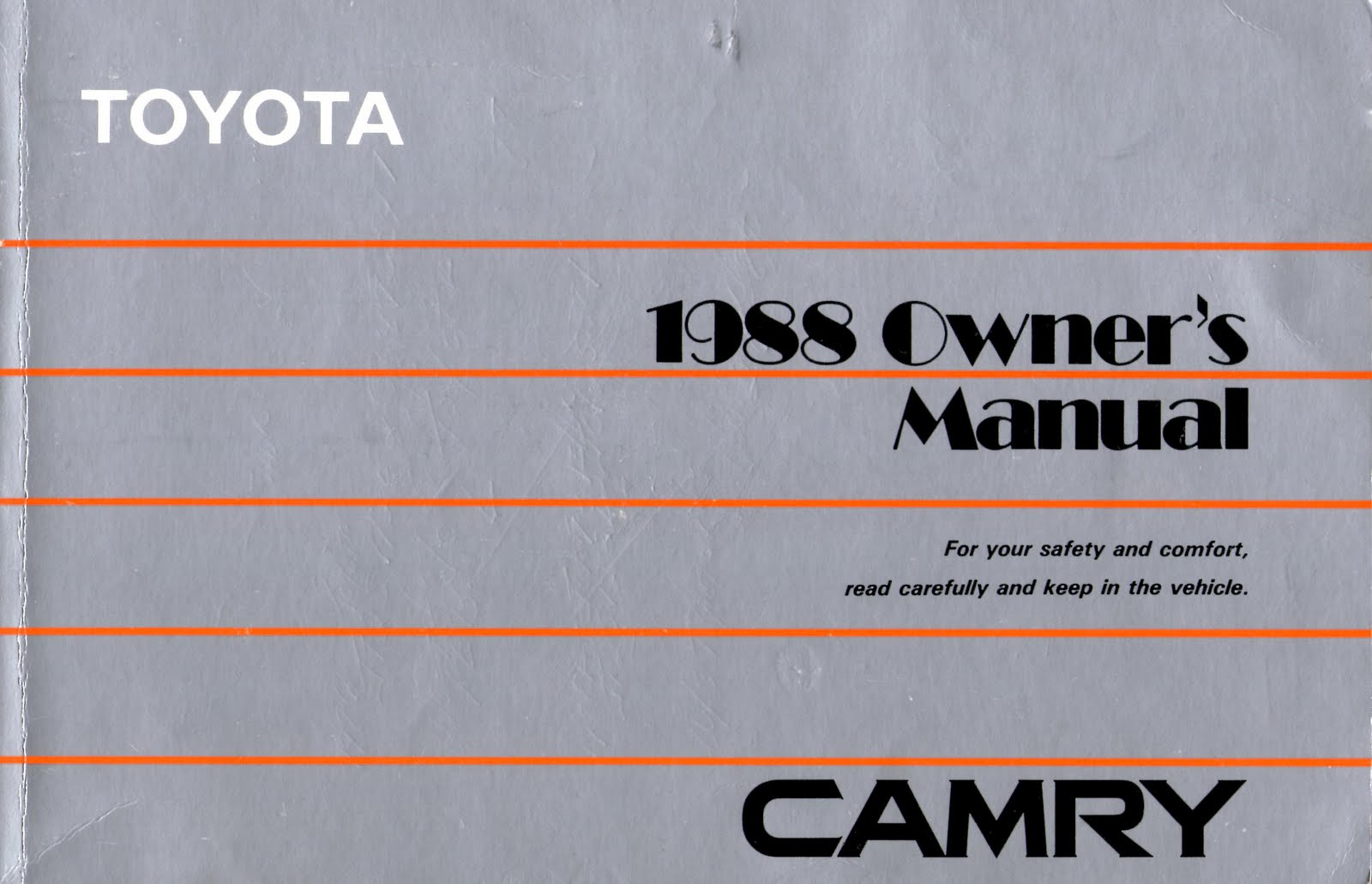 camry owner's manual - Basic Car Tips