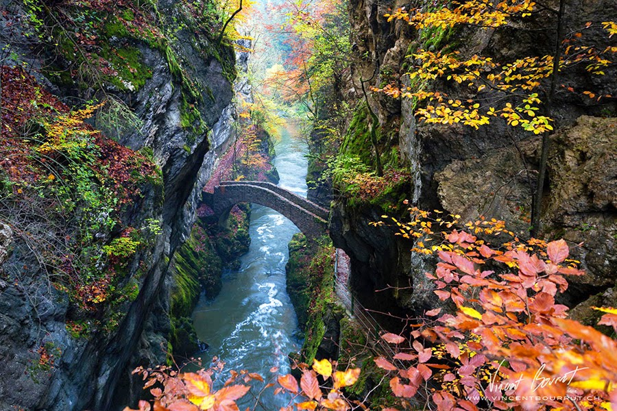 Bridge Gorge De L'areuse, Switzerland