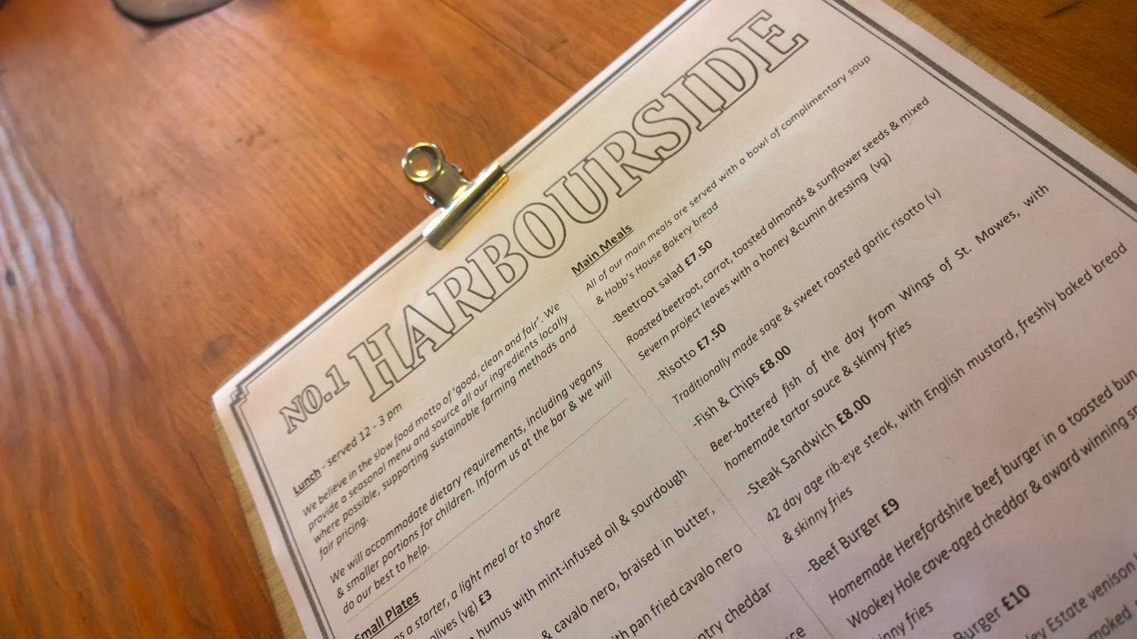 No.1 Harbourside Food