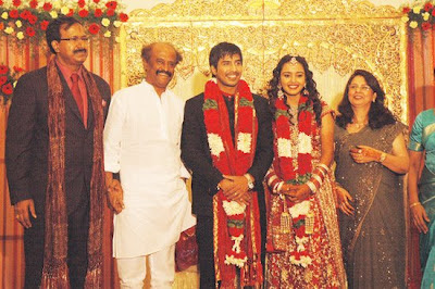 Actor Vishnu marriage Photos with Rajini
