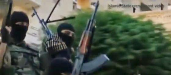 ISIS Fighters On Parade In Iraq: Is their propaganda irresistible? (Screen capture from video)