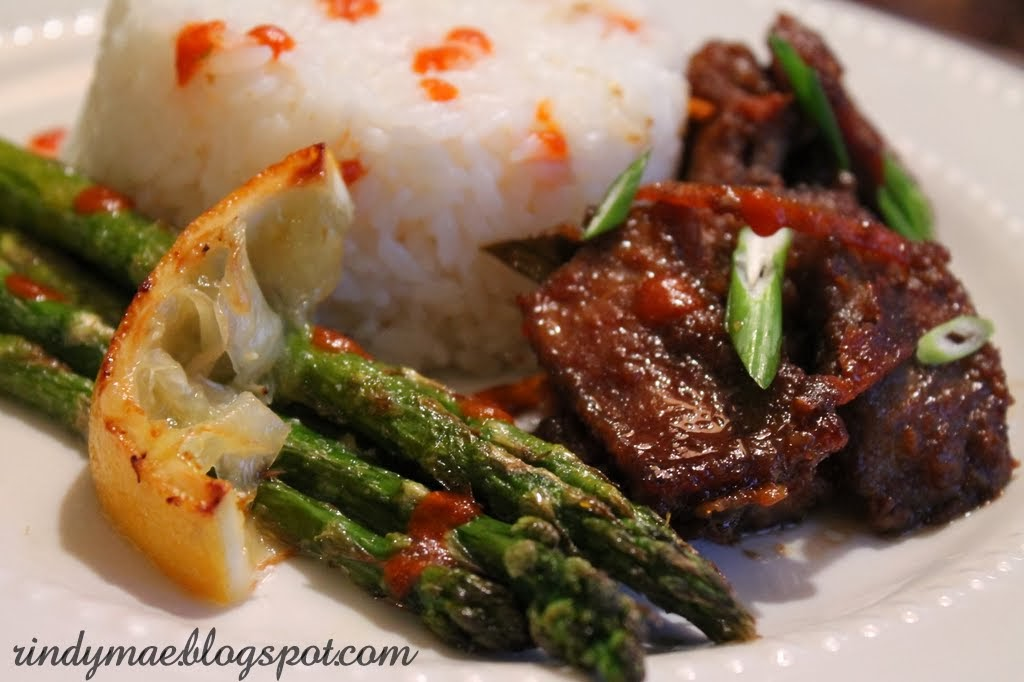 Here's the link to the recipe: Crispy Orange Beef