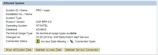 maintain access data