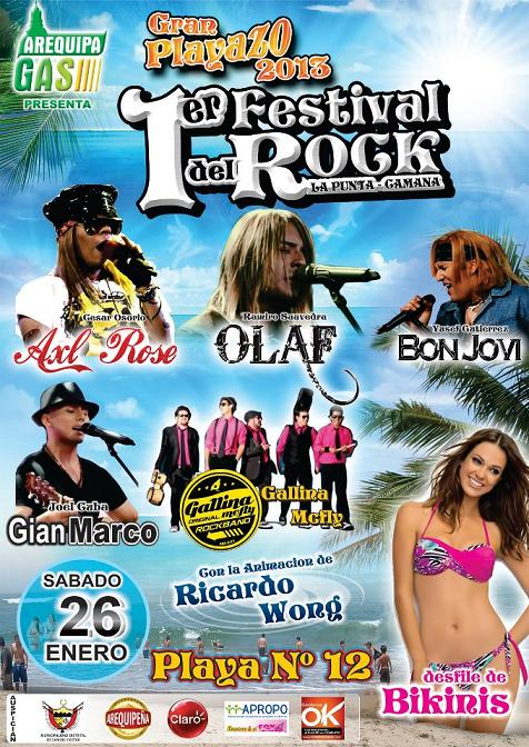 I Festival del Rock en Camana (26 enero)