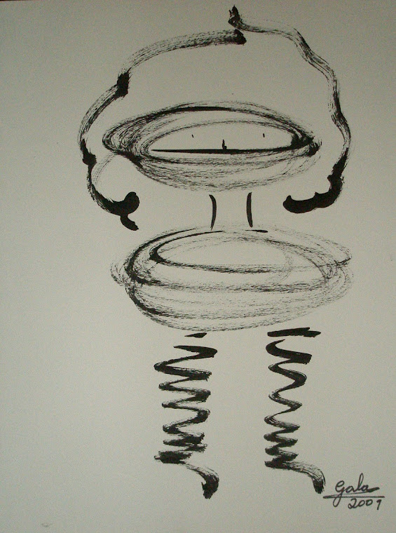 Serie Personajes. Dibujo con tinta sobre papel