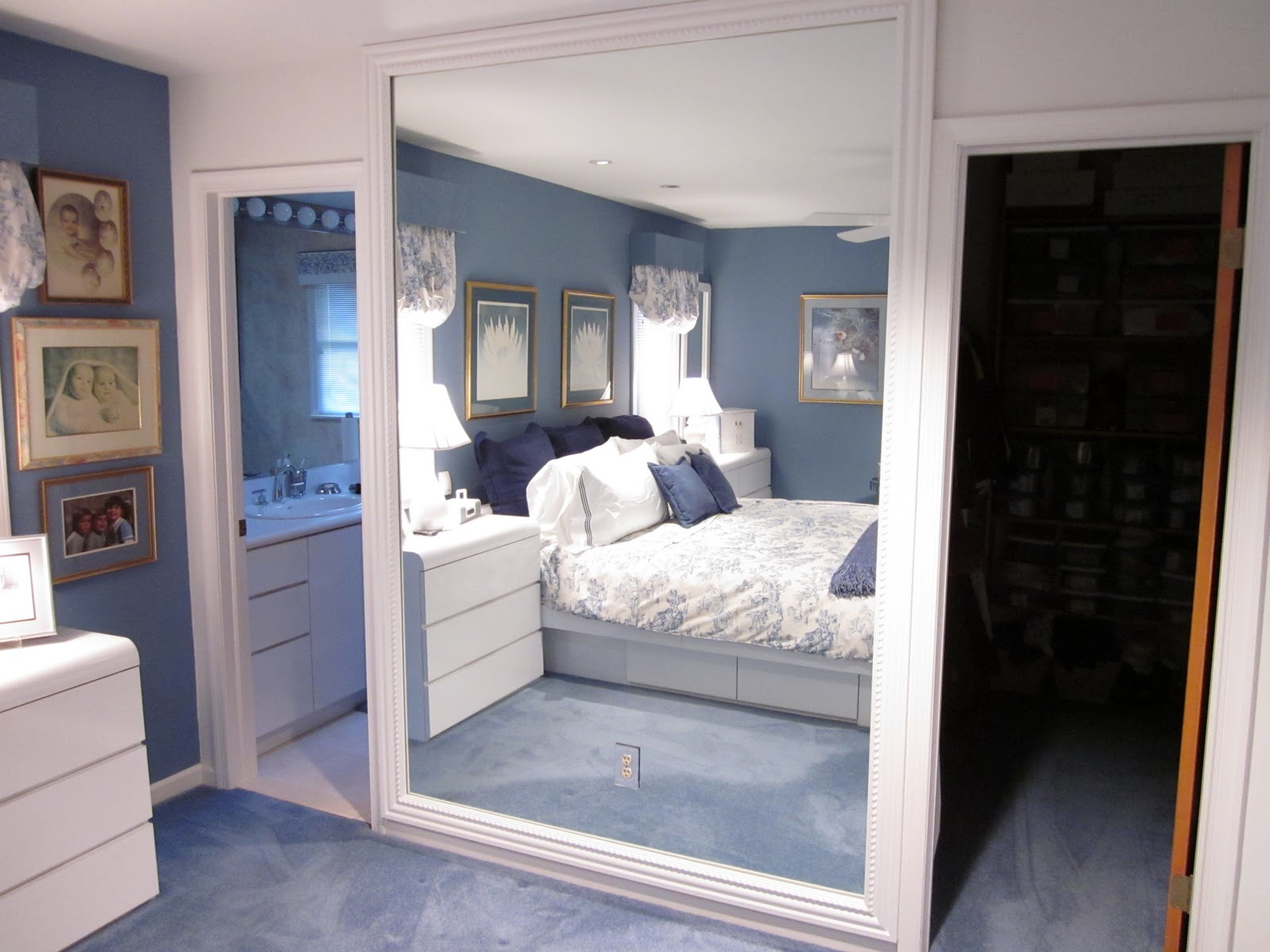 Frame a bathroom mirror with molding - Framing A Large Mirror