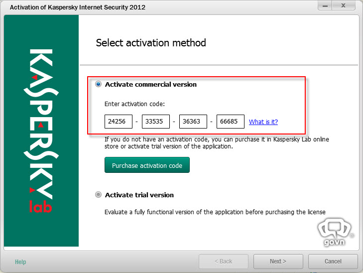 kaspersky internet security activation code