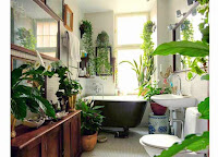 Plants Usage for a Tropical like Bathroom