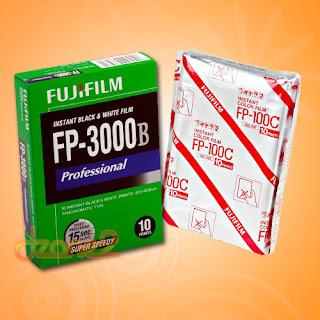 Fujifilm Fuji FP-100C + FP-3000B Instant Film Polaroid Professional Holga Camera