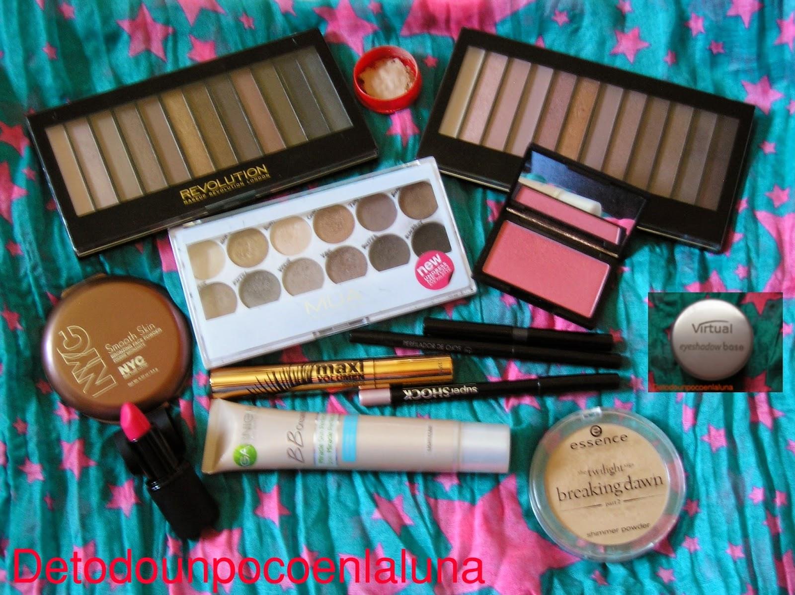 productos utilizados look rose gold