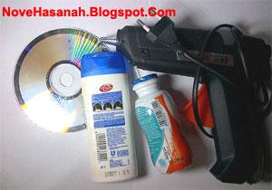 cara membuat kerajinan tangan sederhana dari CD bekas dan botol plastik bekas 1