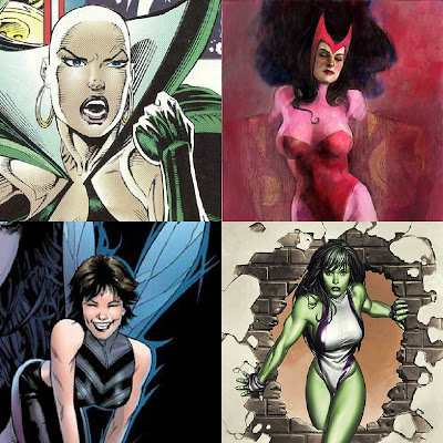Moondragon, Wasp,She-Hulk,Scarlet Witch,superheroes,Marvel,Capes on Film