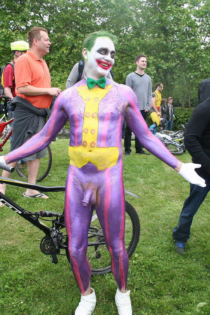 body painting naked male