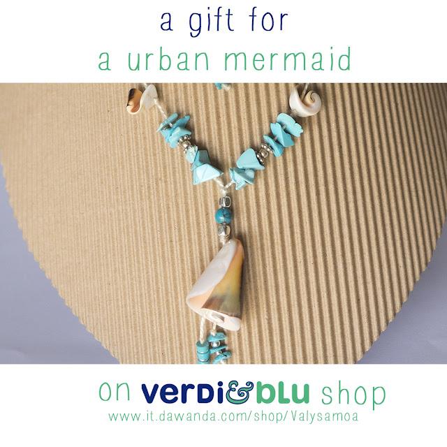 collana turchese e conchiglie regalo Natale