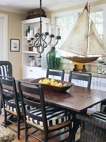 Decorating with model yachts 7 display ideas completely for Nautical kitchen table