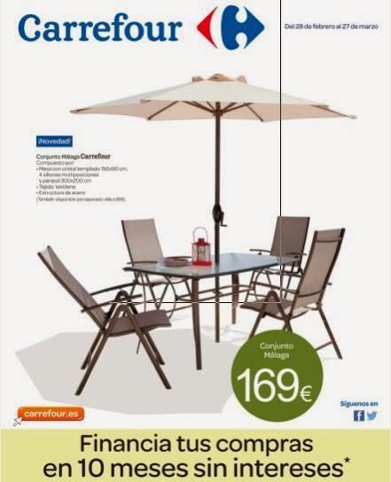 Carrefour ofertas para tu jardin catalogo de marzo 2014 for Oferta tumbonas jardin