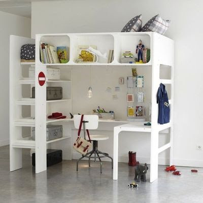 Cama escritorio a la vez para ni os decoracion endotcom for Cama escritorio