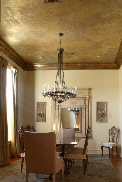 The Pink Chalkboard: Gold Ceilings