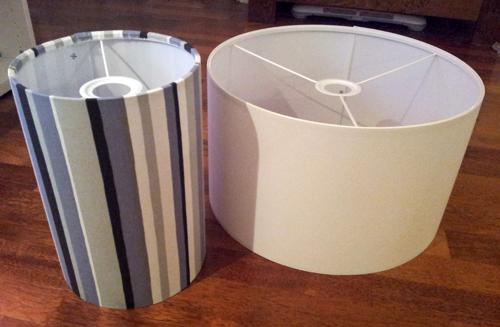 ein haus f r uns einrichtungs garten und baublog lampen mit individuellem stoffbezug. Black Bedroom Furniture Sets. Home Design Ideas
