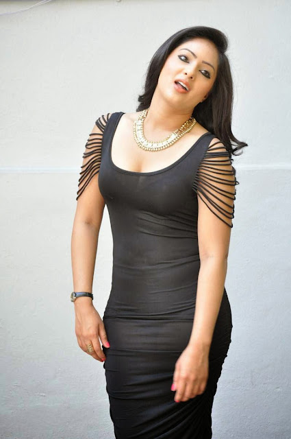 Actress Nikesha Patel Latest  Pictures in Black Short Dress 19.JPG