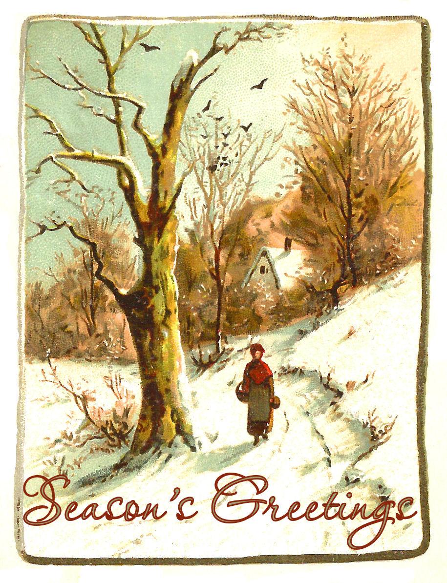 The Graphics Monarch Printable Christmas Greetings Winter Snow
