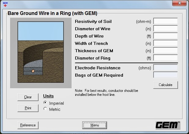 Grounding design calculations part nine electrical knowhow calculation8 bare ground wire in a ring with gem keyboard keysfo Gallery