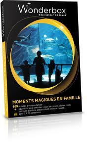"""35 coffrets Wonderbox """"Moments magiques en famille"""""""