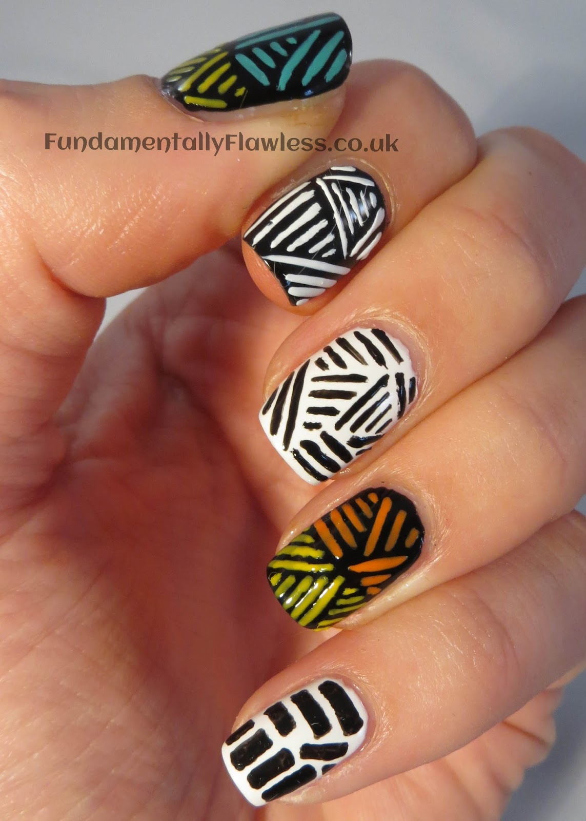 Tribal print nail designs ledufa good ive been dreading this day for a while i love tribal nail art but had no idea how to come up with a decent design myself however once i forced myself prinsesfo Image collections