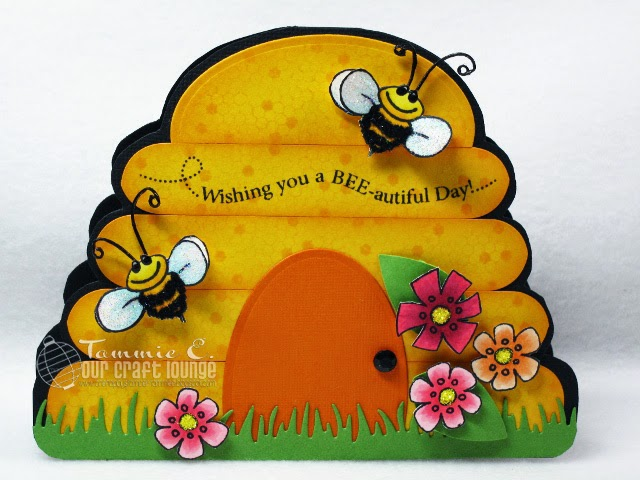 handmade bee card