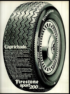 propaganda pneu Firestone - 1972;  1972; brazilian advertising cars in the 70s; os anos 70; história da década de 70; Brazil in the 70s; propaganda carros anos 70; Oswaldo Hernandez;