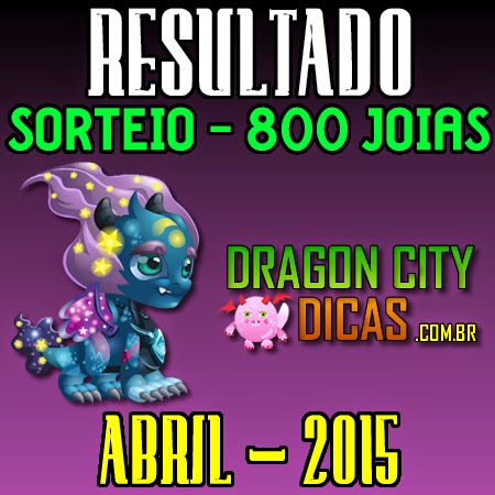 Resultado do Super Sorteio de 800 Joias - Abril 2015