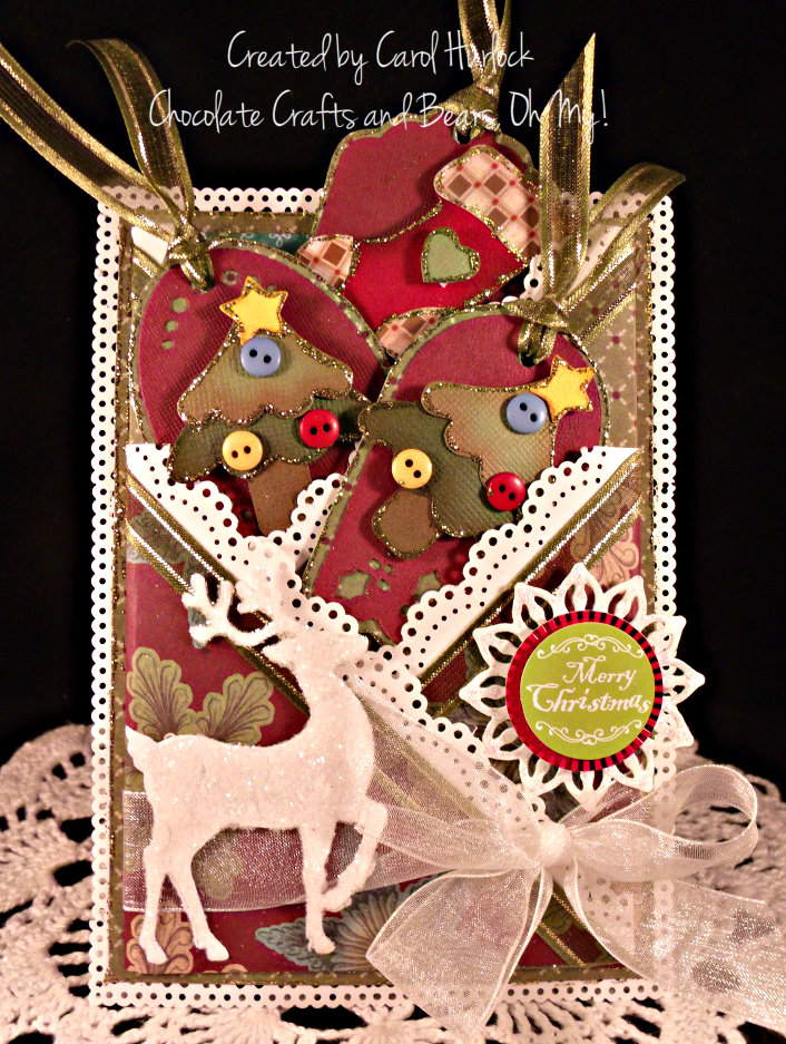chocolate crafts and bears oh my double criss cross pocket card