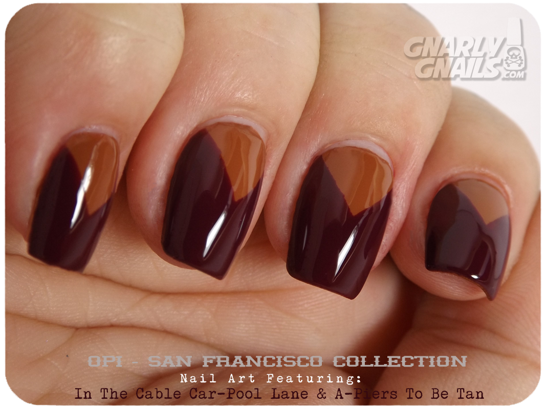 OPI San Francisco Nail Art Triangles - Gnarly Gnails