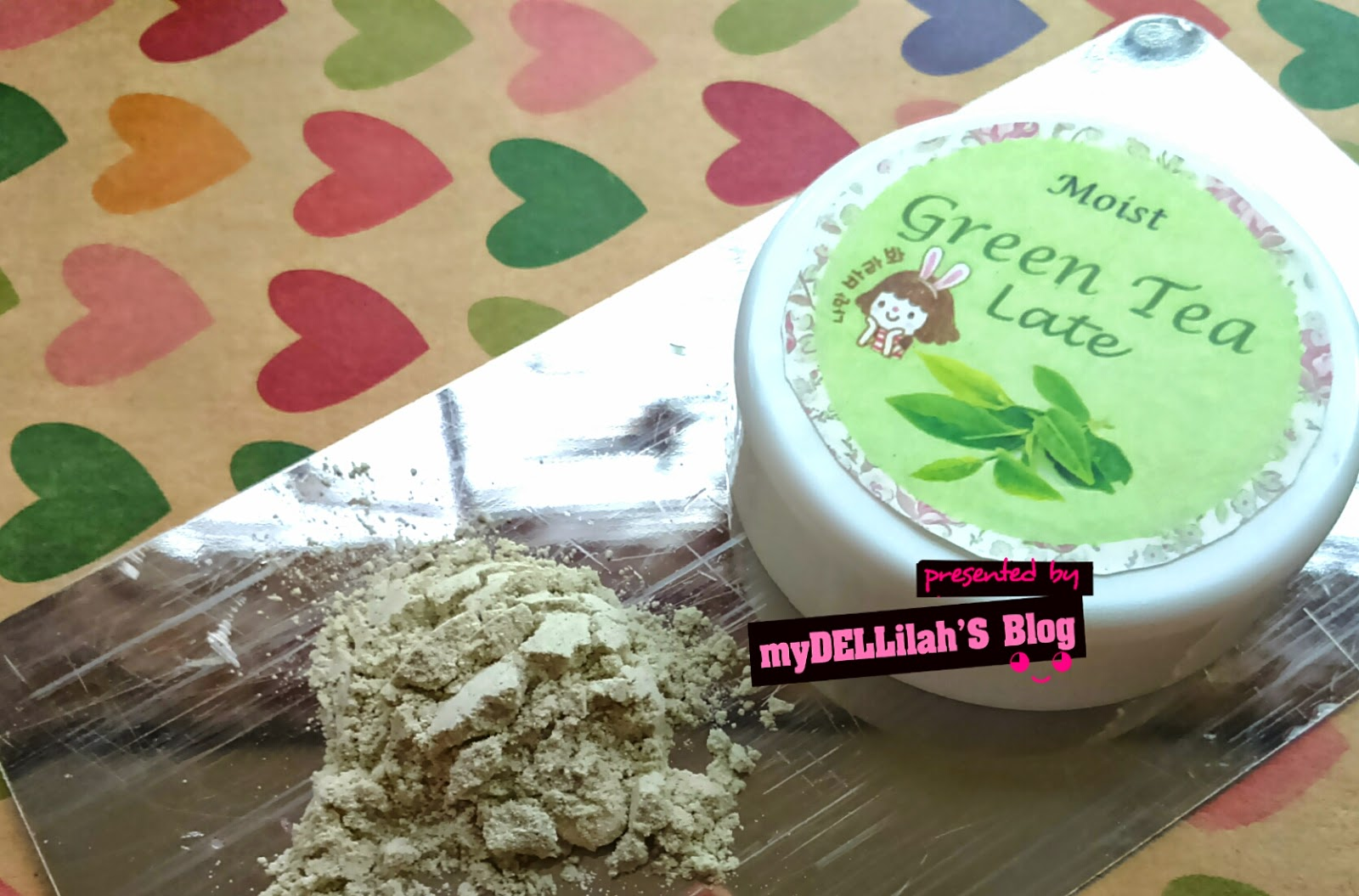 "Masker Organik alami Indonesia  ""MOIST GREEN TEA LATE"""