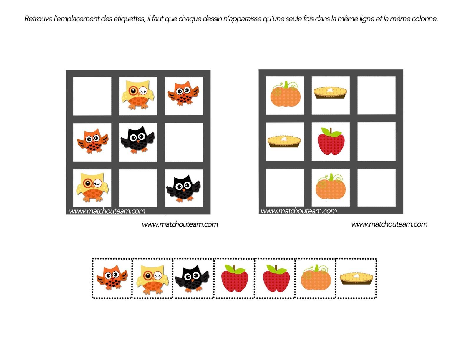 Ma tchou team jeu pour esprit logique for Puzzle a colorier gratuit