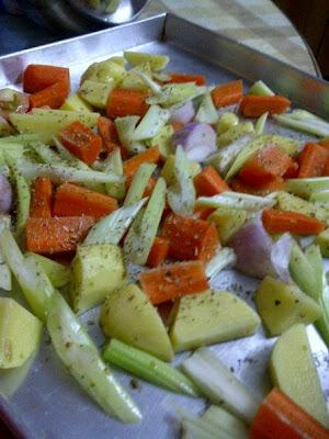 resipi mudah untuk diet, low calorie menu, recipe roasted chicken