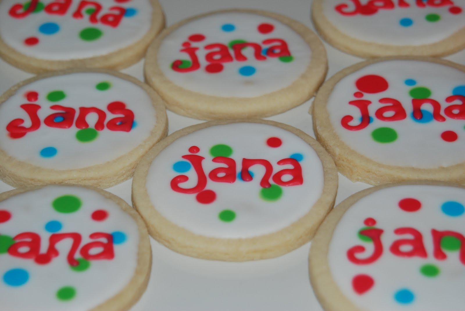 Sweet La Las Custom Cookies Happy Birthday Jana