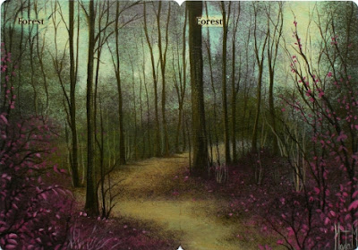 Forest Magic the Gathering altered magic the gathering altered cards art mtg online artwork mtg land panorama Forest MTG art