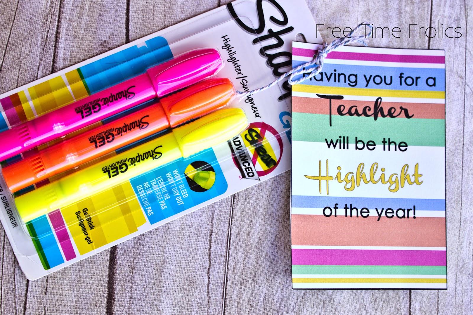Highlighter printable for teachers www.freetimefrolics.com