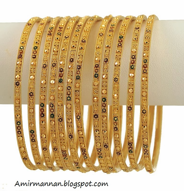 Bangles Jewellers: Bangles 21k Gold Super Bangle 2