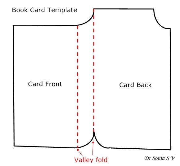 book shaped card template - Kids Book Template