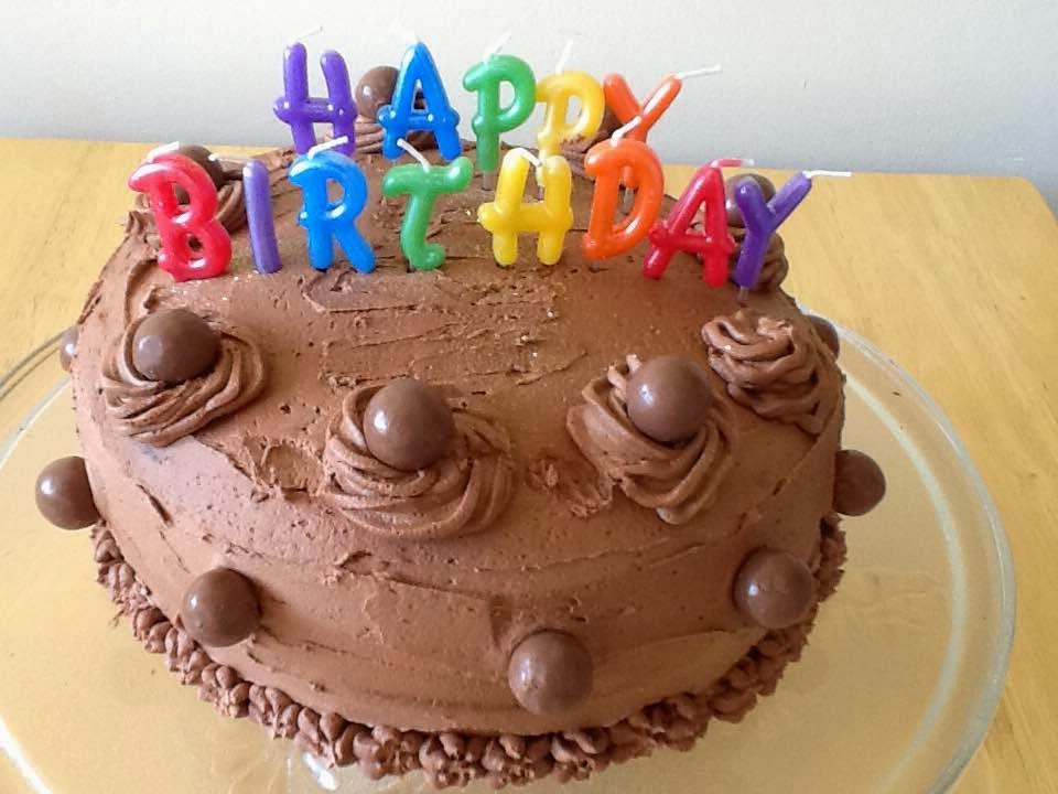 Chocolate Marble Birthday Cake