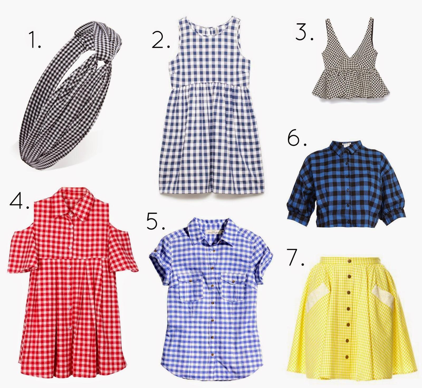 Tendencia cuadros vichy gingham moda trendy primavera verano 2015 productos compras shopping cuadro falda top Zara Monoush estilo estilismo